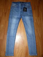 Neue Icon Amsterdam Herren Slim Fit Jeans Gr W32/L32 Blau Stretch Denim