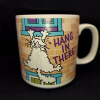 Funny Vintage Cat Cup Hang In There Coffee Mug Russ