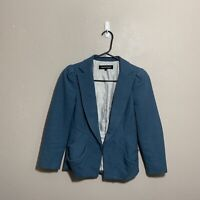 NANETTE LEPORE Tweed Lined Blazer Jacket Top in Blue Size 0 Gorgeous