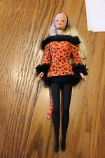 Vintage 1981 Sexy Barbie Blonde Barbie doll w Orange Kitty Cat Outfit costume