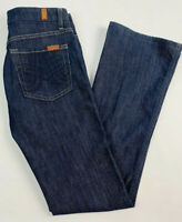 7 For All Mankind 27 Womens A Pocket Jeans Wide Leg Flare Indigo Dark Wash