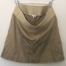 A Pea In The Pod Maternity Tan Cream Skirt Size L