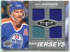 2010-11 Black Diamond Jerseys Quad GA Glenn Anderson Quad Jersey