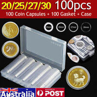 2 Pages 20 Pockets Plastic Coin Holders Storage Collection Money Album CasesG gq