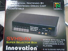 S Video SVHS AV Multi TV 6 Selector Switch Box NES SNES N64 DVD Xbox PS2 PS1 Wii