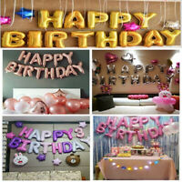 """16"""" INCH Foil Number & Letter Self Inflating BALOONS Happy Birthday Balloons UK"""