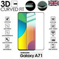For Samsung Galaxy A71 (2020) 3D Tempered Glass LCD Screen Protector Black