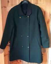 Ladies Pitlochry Bottle Green Pure Wool Coat Size 16