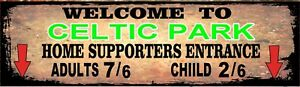 Retro Celtic Park Sign, Football sign, Celtic FC sign. Retro wall sign