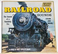 Railroad Sounds Of Steam And Diesel - 1958 Vinyl LP Record Album - Excellent