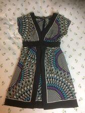 Stunning WAREHOUSE 100% Silk Dress-size 12. More Like 10. VGC