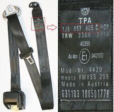VW Bora Seat Belt Left Side Rear Black 1J5857805C