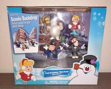Frosty the Snowman Winter Parade Figurine Display Set Scenic Backdrop