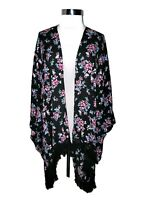 LANE BRYANT Plus Size O/S 1X 2X 3X Jacket Cardigan Top Black Purple Blue Floral