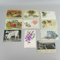 Vintage Mixed Lot of 10 Holidays & Greetings Postcards early 1900s Iowa SET 3