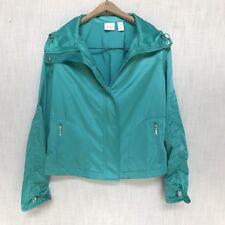 Chico's Aqua Ruched Jacket, Medium 8, 1, NWT