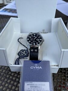 Cyma Flieger Military Style Automatic Mens Watch Boxed Very Rare Model