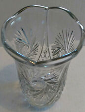 Shabby Chic Cut Glass Crystal Flower Vase