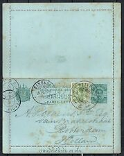 Thailand covers 1904 uprated Carte-Lettre to Rotterdam
