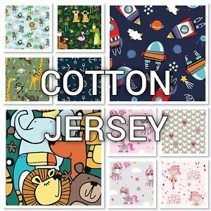 KIDS  COTTON JERSEY FABRICS 2 - Lots of designs, great quality, Jersey Fabric