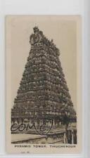 1926 Westminster Indian Empire Series 2 #34 Tiruchendur Pyramid Tower Card 0w6