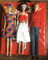 Vintage Midge Allan Dolls Case Silken Flame Dress PAK Dress & Hat Jewelry