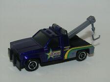"Matchbox Superfast 1987 GMC Wrecker Purple ""Tow Service"" Mint Unboxed"