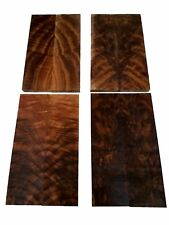 "Burled Highly Figured Walnut Book Matched Knife Scales - 0.375"" x 1.75"" x 6"" (8"