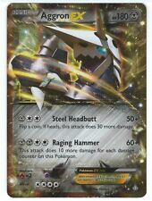 POKEMON HOLO CARD - AGGRON EX 93/160 PRIMAL CLASH - NM/MINT PULLED FROM PACK