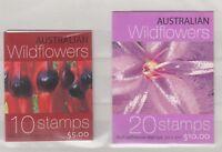 Australia 2005 Wildflower Booklets x 2 Self Adhesive Mint X9173