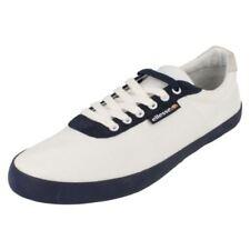 Scarpe casual da uomo bianchi tela , Numero 37