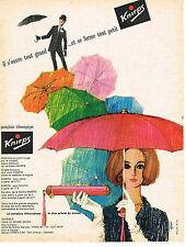 PUBLICITE  1963   KNIRPS  parapluie  téléscopique