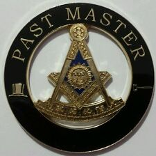 Freemason Past Master Cut-Out Car Emblem with Square in Black