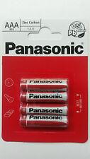 Genuine Panasonic Heavy Duty AAA Batteries R03 1.5V Pack of 4 Zinc Carbon