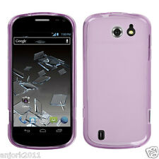 Sprint Flash ZTE N9500 Soft Candy Skin Case TPU Cover Frost Clear Purple