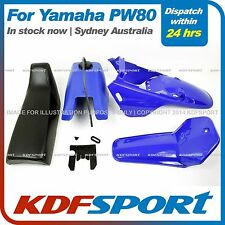 KDF FOR YAMAHAX PW80 PY80 PLASTIC FENDER COVER + TANK  (BLUE) + SEAT (BLACK)