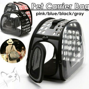 Transparent Foldable Breathable Pet Bag Outdoor Backpack Travel Carrying Handbag