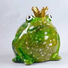 Pomme Pidou Spardose Froschkönig Blumen grün weiß Frosch Sparbüchse Geldgeschenk