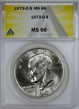 1973-D EISENHOWER IKE DOLLAR ANACS MS66 SCARCE SUPERB GEM 6239479
