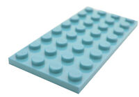 Lego 10 Stück azurblau (medium azure) Platten 4x8 (3035) Platte Basics City Neu