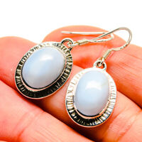 "Owyhee Opal 925 Sterling Silver Earrings 1 3/8"" Ana Co Jewelry E411308F"