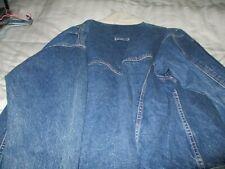 Vintage Sergio Valente blue jean jacket size Xl