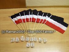 Fahnen 10 x Deutsches Reich  Mit Halter für Autoscheibe Stockflagge 30 x 40 cm