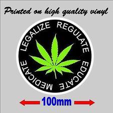 Marijuana Sticker Legalise Regulate Educate Medicate vinyl car decal waterproof