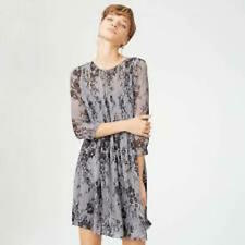 Club Monaco Coriss Dress Size 12 Gray Black Floral Pattern