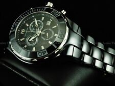 TechnoMarine Men 45mm Sapphire Cruise Chronograph Black Ceramic Bracelet Watch