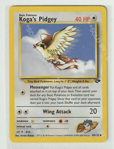 POKEMON GYM CHALLENGE  KOGA'S PIDGEY CARD 49/132   - FREE P&P