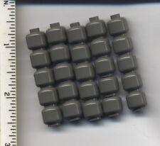 LEGO x 25 Classic Dark Gray Minifig Head Plain NEW bulk