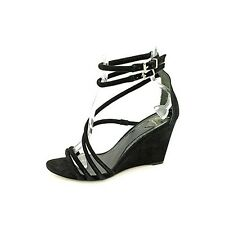 Brian Atwood Sedini Women's Black Suede Wedges Heels Shoes. Size 6.5 M US