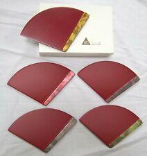 ZOHIKO URUSHI ART Japanese Wooden Lacquerware Plates (Set of 5, NEW W. BOX)
